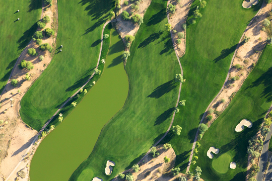 Golf course from the air