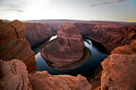 Horseshoe bend in the Colorado