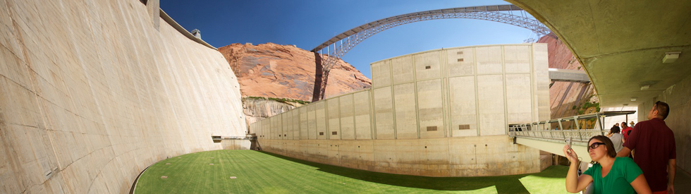 Bottom of the Glen Canyon Dam, near Page, AZ.